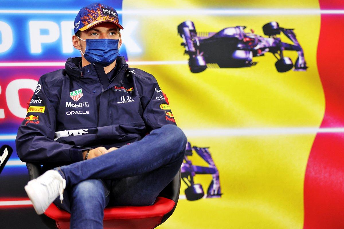 Max Verstappen, Red Bull Racing, en la conferencia de prensa