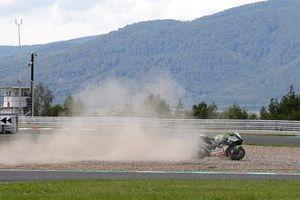 Crash of Jonathan Rea, Kawasaki Racing Team WorldSBK