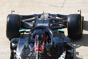 The car of Lewis Hamilton, Mercedes F1 W11, in the pit lane