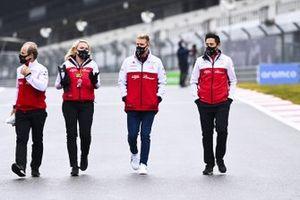 Mick Schumacher, Alfa Romeo walks the track