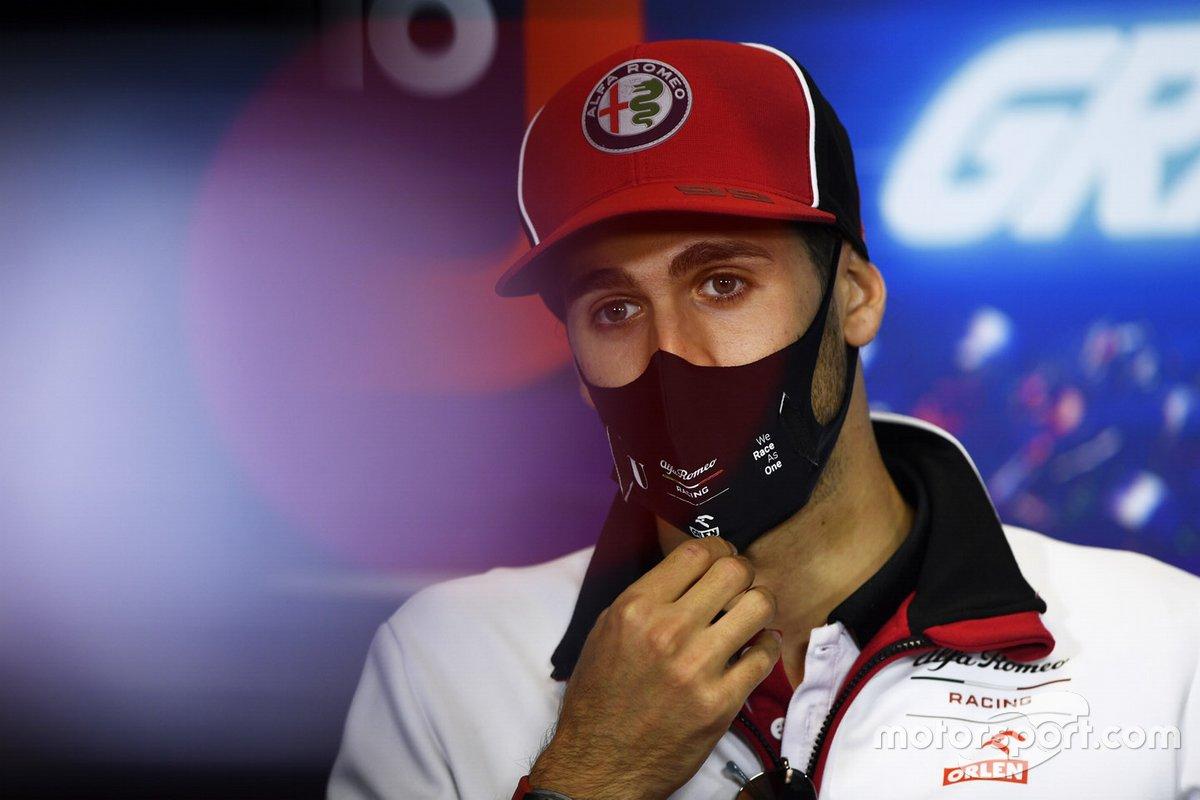 Antonio Giovinazzi, Alfa Romeo, in conferenza stampa