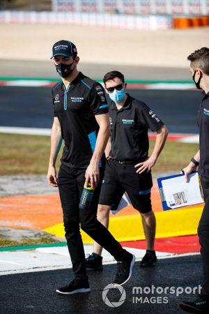 Nicholas Latifi, Williams Racing, walks the track