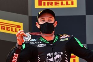 Lucas Mahias, Kawasaki Puccetti Racing with runner up medal