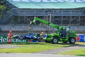 Car of David Schumacher, Carlin being recovered