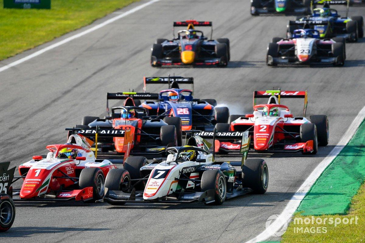 Oscar Piastri, Prema Racing, Theo Pourchaire, ART Grand Prix, Bent Viscaal, MP Motorsport, Clement Novalak, Carlin e Frederik Vesti, Prema Racing