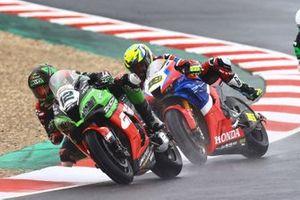 Xavi Fores, Kawasaki Piccetti Racing, Alvaro Bautista, Team HRC sliding