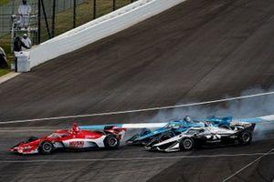 Marcus Ericsson, Chip Ganassi Racing Honda, Max Chilton, Carlin Chevrolet, Simon Pagenaud, Team Penske Chevrolet