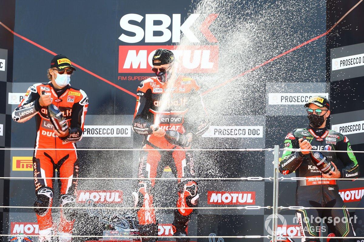 Chaz Davies, Aruba.it Racing Ducati, Scott Redding, Aruba.it Racing Ducati, Jonathan Rea, Kawasaki Racing Team