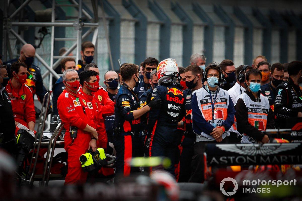 Max Verstappen, Red Bull Racing, tercer lugar en Parc Ferme