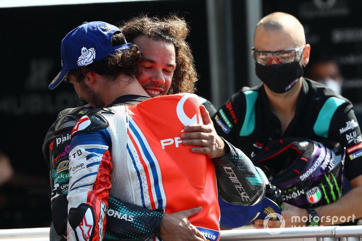 Ganador Franco Morbidelli, Petronas Yamaha SRT, Francesco Bagnaia, Pramac Racing