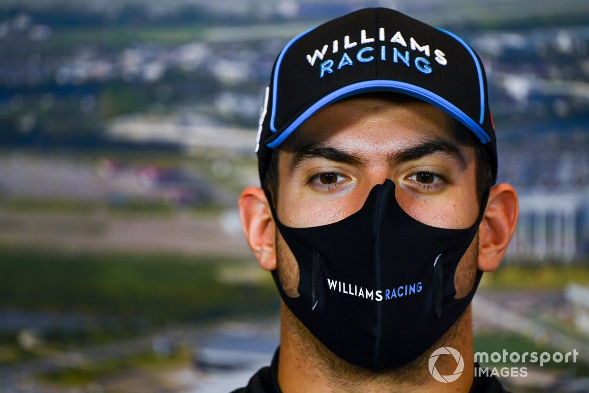 Nicholas Latifi, Williams Racing, en la conferencia de prensa