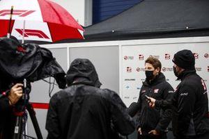Romain Grosjean, Haas F1, is interviewed