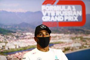 Lewis Hamilton, Mercedes-AMG F1 en la conferencia post carrera