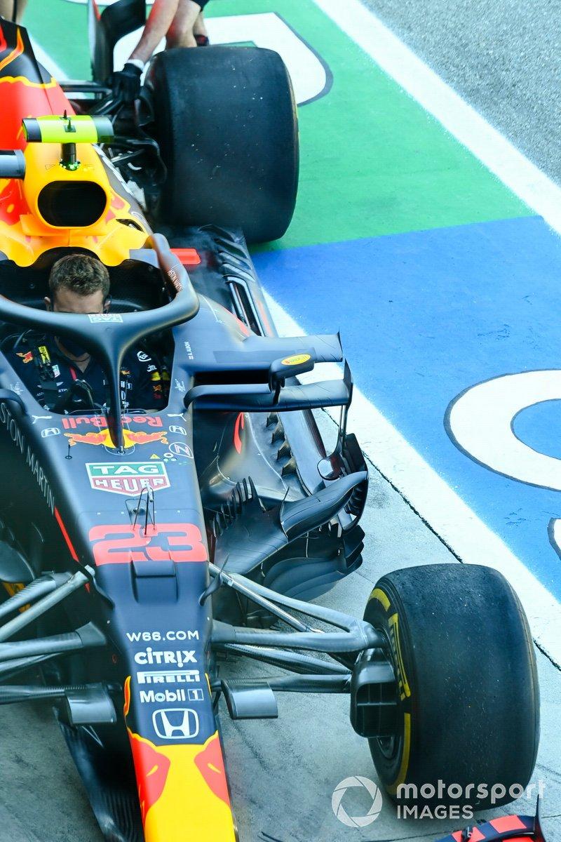 Detalle de la suspensión del Red Bull Racing RB16