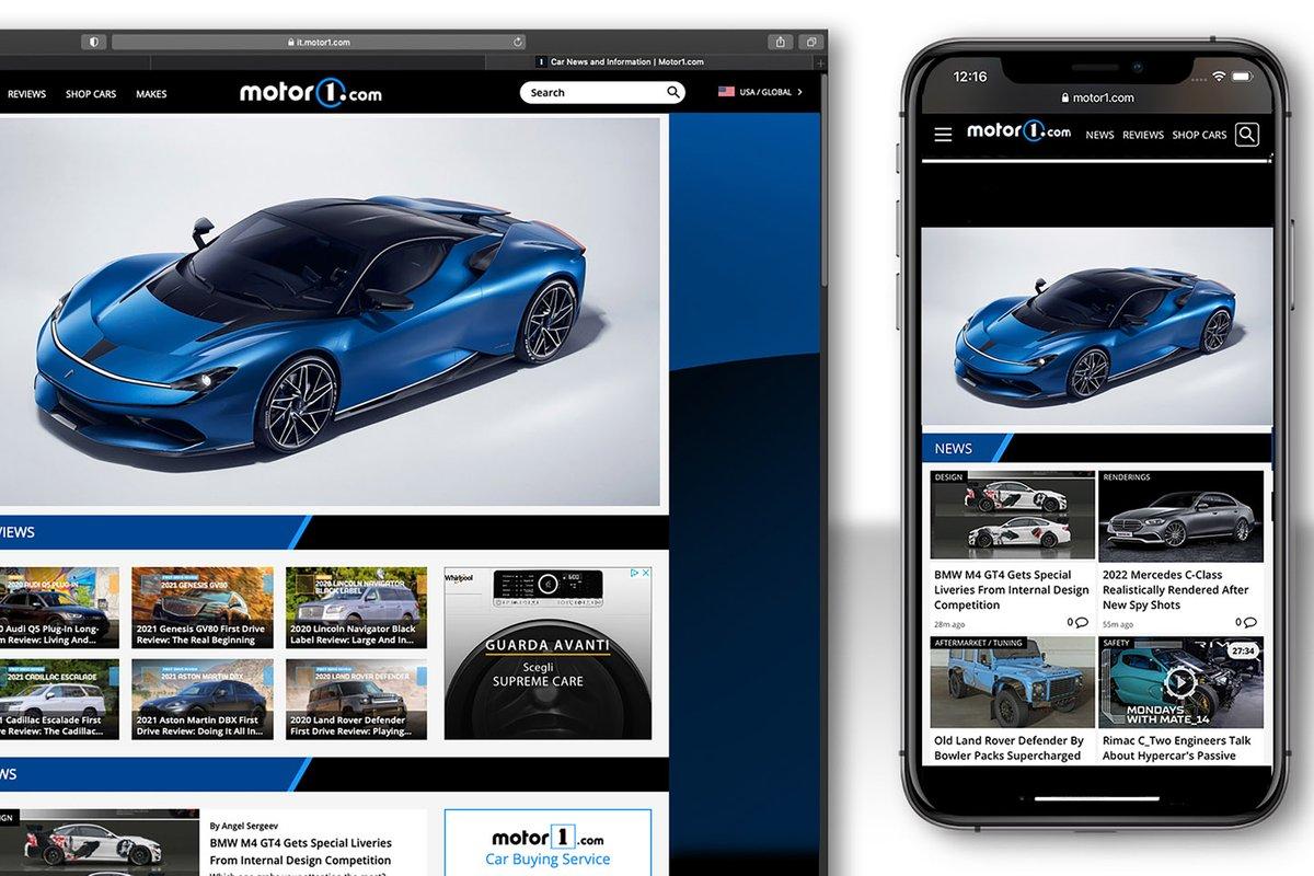 Motor1.com em várias plataformas