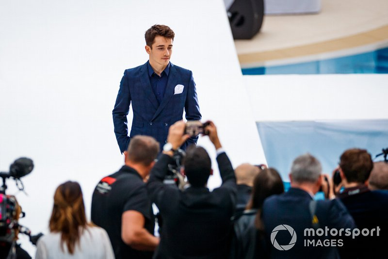 Charles Leclerc, Ferrari, all'Amber Lounge fashion show