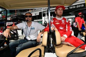 Ed Jones, Ed Carpenter Racing Scuderia Corsa Chevrolet, mit Dario Franchitti