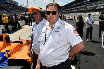 Fernando Alonso, McLaren Racing Chevrolet, Zak Brown