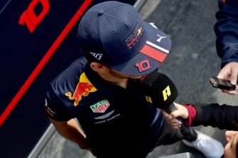 Pierre Gasly, Red Bull Racing talks to the media