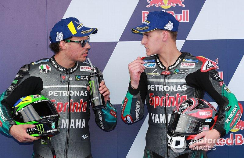 Ganador de la pole Fabio Quartararo, Petronas Yamaha SRT, second place Franco Morbidelli, Petronas Yamaha SRT