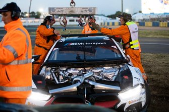 Coche dañado #81 BMW Team MTEK, BMW M8 GTE: Nicky Catsburg, Martin Tomczyk, Philipp Eng