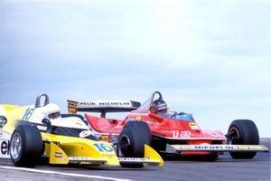 Gilles Villeneuve, Ferrari 312T4, Rene Arnoux, Renault RS10
