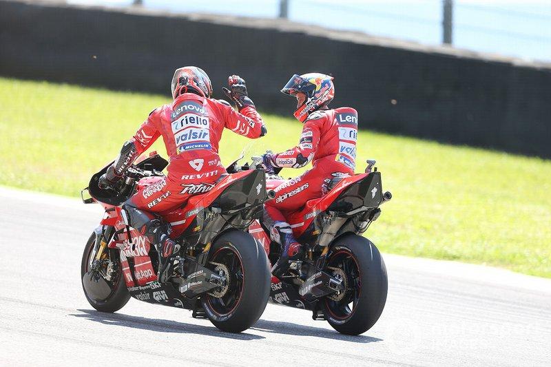 Danilo Petrucci, Ducati Team y Andrea Dovizioso, Ducati Team