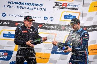 Podium: Julien Briché, JSB Compétition Peugeot 308 TCR, Dániel Nagy, M1RA Motorsport Hyundai i30 N TCR