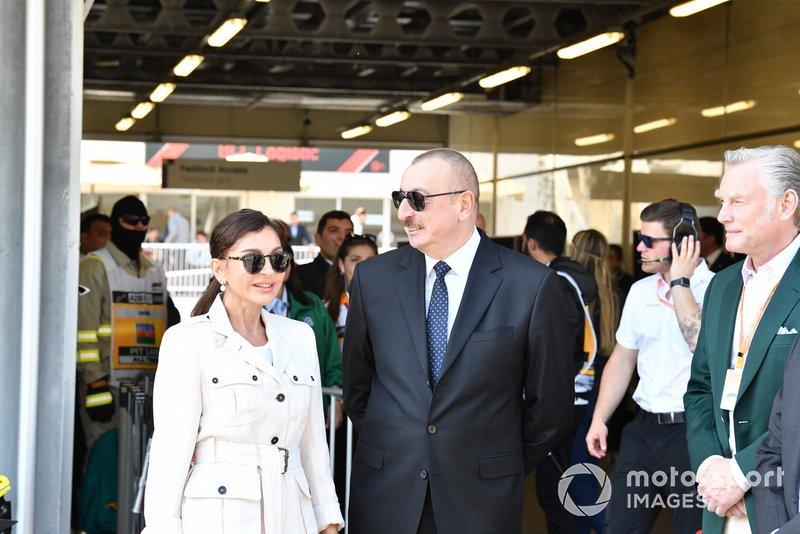 Гран При Азербайджана: президент Ильхам Алиев и его жена Мехрибан Алиева