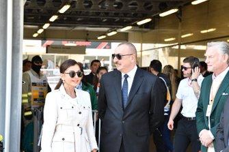 Presidente de Azerbaiyán, Ilham Aliyev con su esposa, Mehriban Aliyeva