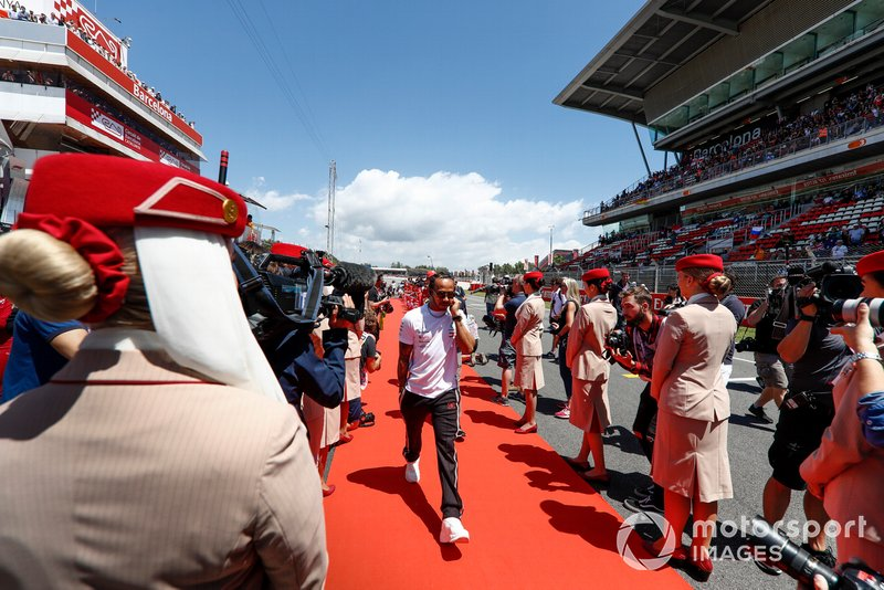 Lewis Hamilton, Mercedes AMG F1, at the drivers parade