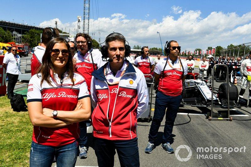 Du personnel d'Alfa Romeo Racing