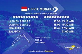 Jadwal Formula E E-Prix Monako