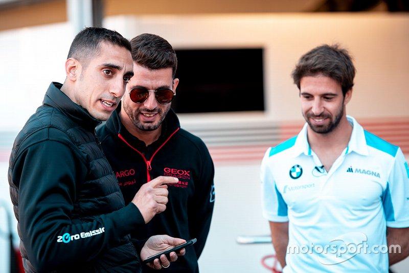 Sébastien Buemi, Nissan e.Dams, Jose Maria Lopez, Dragon Racing, Antonio Felix da Costa, BMW I Andretti Motorsports alla pit lane