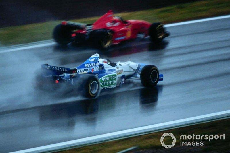 Miichael Schumacher, Ferrari, Gerhard Berger, Benetton