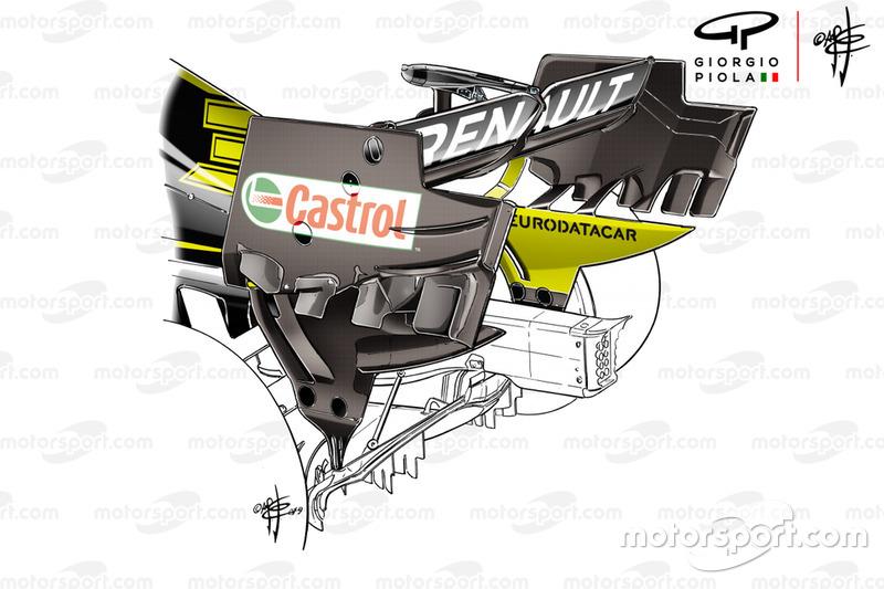 Aileron arrière de la Renault F1 Team R.S.19
