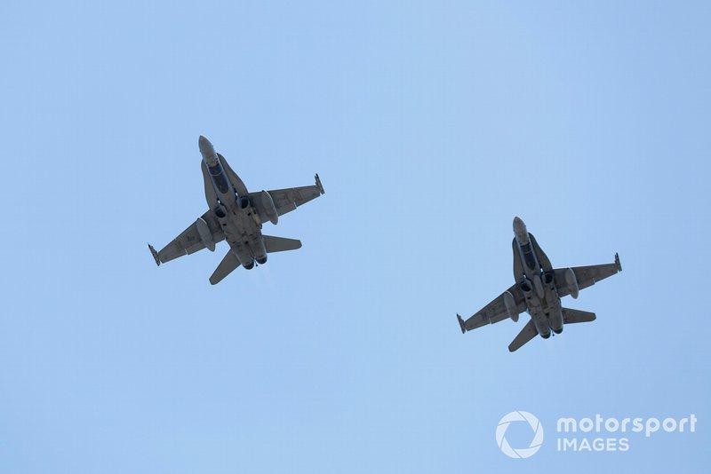 Dos CF-18 Hornets de las Fuerzas Armadas de Canadá
