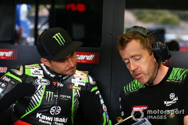Leon Haslam, Kawasaki Racing, mit Marcel Duinker