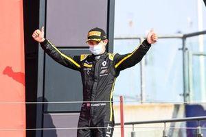 Christian Lundgaard, ART Grand Prix, arrives on the podium