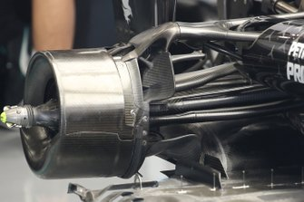 Mercedes F1 W11, rear brake detail