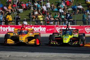Ryan Hunter-Reay, Andretti Autosport Honda e Santino Ferrucci, Dale Coyne Racing con Vasser Sullivan Honda