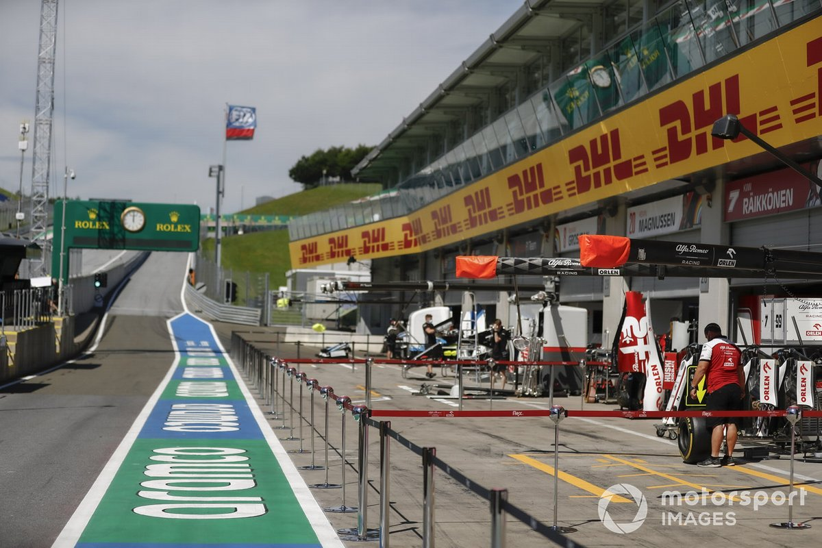 El pitlane del Red Bull Ring