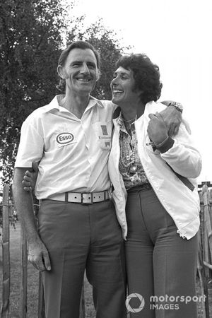 Graham Hill, Embassy Hill GH1 Ford, avec sa femme Bette Hill