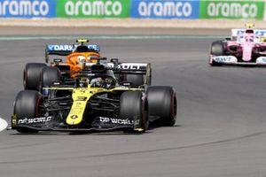 Daniel Ricciardo, Renault F1 Team R.S.20, Lando Norris, McLaren MCL35, and Lance Stroll, Racing Point RP20