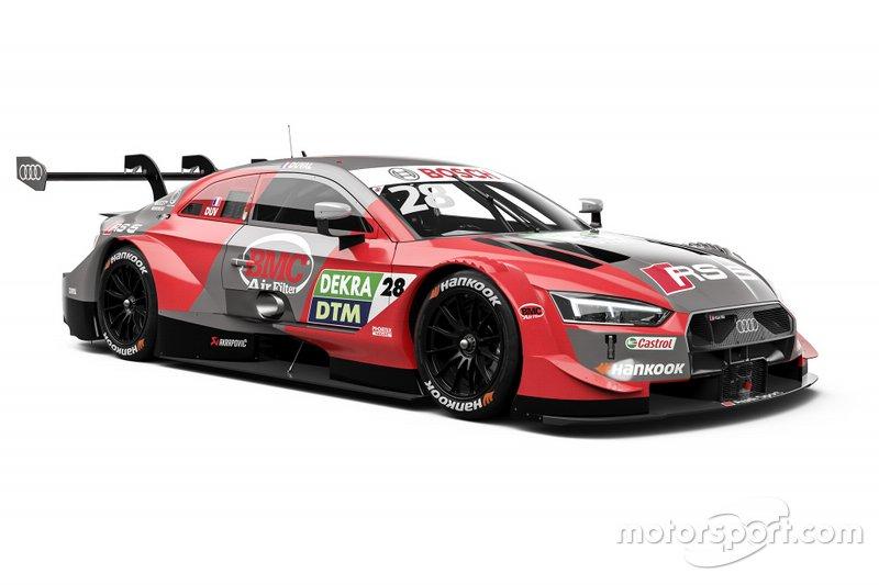 ... Pheonix-Audi-Piloten bleibt die Grundfarbe gleich: Loic Duval geht in Rot in die Saison, neu sind hingegen Sponsor und die grauen Flächen. Bei Vizemeister ...