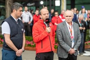 Michael Masi, (F1 Race Director) from FIA, Andrew Westacott (CEO), Paul Little (Chariman) from Australian Grand Prix Corporation