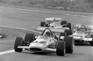 Bruce McLaren, McLaren M14A Ford, Jackie Stewart, March 701 Ford, Graham Hill, Lotus 49C Ford