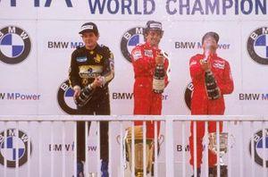 Alain Prost, McLaren, Ayrton Senna, Lotus, Michele Alboreto, Ferrari, GP d'Austria del 1985