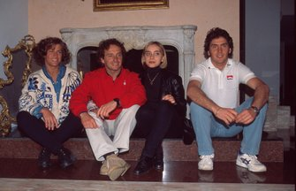 Pier Luigi Martini with his family