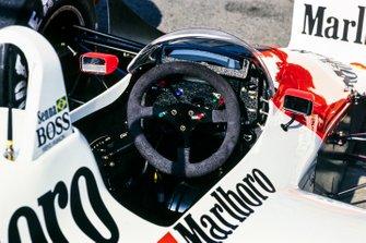The cockpit of Ayrton Senna's McLaren MP4-4 Honda